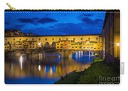 Notte A Ponte Vecchio Carry-all Pouch by Inge Johnsson