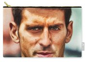 Novak Djokovic Carry-all Pouch by Nishanth Gopinathan