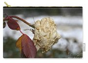November Snow Rose Carry-all Pouch