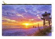 Nsb Lifeguard Station Sunrise Carry-all Pouch