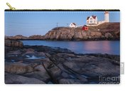 Nubble Light Along Maine's Rugged Coast York Beach Maine Carry-all Pouch