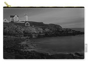 Nubble Light At Sunset Bw Carry-all Pouch by Susan Candelario