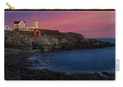 Nubble Lighthouse At Sunset Carry-all Pouch