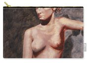 Nude French Woman Carry-all Pouch by Shelley Irish