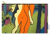Nude In Orange And Yellow Carry-all Pouch