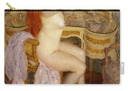 Nude Seated At Her Dressing Table Carry-all Pouch