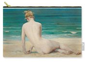 Nude Seated On The Shore Carry-all Pouch