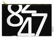 Numbers In Black And White Carry-all Pouch