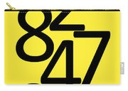 Numbers In Black And Yellow Carry-all Pouch