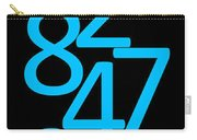 Numbers In Blue And Black Carry-all Pouch