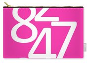 Numbers In Pink And White Carry-all Pouch