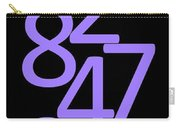 Numbers In Purple And Black Carry-all Pouch