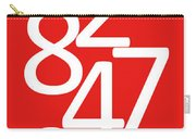 Numbers In Red And White Carry-all Pouch
