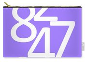 Numbers In White And Purple Carry-all Pouch