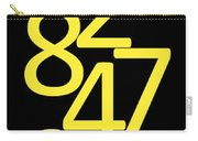Numbers In Yellow And Black Carry-all Pouch