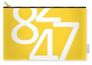 Numbers In Yellow And White Carry-all Pouch