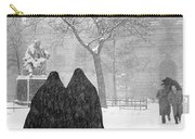 Nuns In Snow New York City 1946 Carry-all Pouch