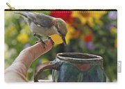 Nuthatch Bird On Finger Photo Carry-all Pouch