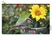 Nuthatch Bird Having Tea Carry-all Pouch