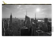 Ny Times Skyline Bw Carry-all Pouch