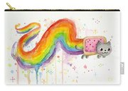 Nyan Cat Watercolor Carry-all Pouch