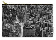 Nyc Downtown - Black And White Carry-all Pouch
