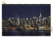 Nyc Skyline Full Moon Panorama Carry-all Pouch by Susan Candelario