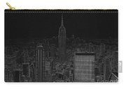Nyc White On Black Carry-all Pouch