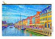 Nyhavn In Denmark Painting Carry-all Pouch