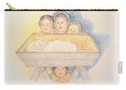 O Come Little Children - Christmas Card Carry-all Pouch