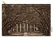 Oak Alley Bw Carry-all Pouch by Steve Harrington