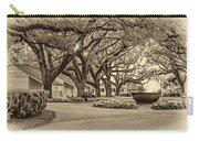 Oak Alley Slave Quarters Sepia Carry-all Pouch