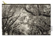 Oak Trees Of Charleston South Carolina In Sepia Carry-all Pouch