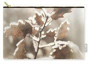Oak Tree Leaves Frozen In Ice Carry-all Pouch