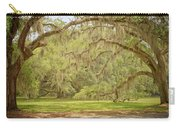 Oak Trees Draped With Spanish Moss Carry-all Pouch by Kim Hojnacki