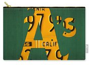 Oakland Athletics Vintage Baseball Logo License Plate Art Carry-all Pouch