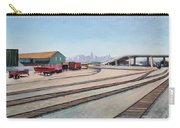 Oakland Train Tracks And San Francisco Skyline Carry-all Pouch