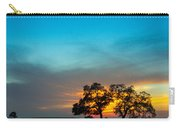 Oaks And Sunset 2 Carry-all Pouch by Terry Garvin