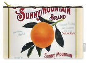 Oatmans Sunny Mountain Brand Oranges Vertical Carry-all Pouch