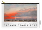 Obama Campaign Poster 2012 Carry-all Pouch by William Van Doren