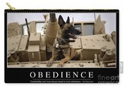 Obedience Inspirational Quote Carry-all Pouch