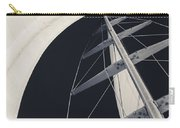 Obsession Sails 5 Black And White Carry-all Pouch