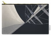 Obsession Sails 8 Black And White Carry-all Pouch