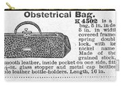 Obstetrical Bag, C1900 Carry-all Pouch