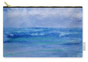 Gentle Ocean Waves -  Original Watercolor Carry-all Pouch
