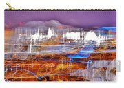 Ocean City By Night - Abstract Purple Carry-all Pouch