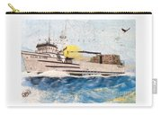 Ocean Olympic King Crab Fishing Boat Nautical Chart Map Art Carry-all Pouch