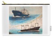 Ocean Phoenix And Excellence Boat Nautical Chart Map Art Carry-all Pouch