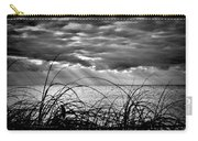 Ocean Rays Black And White Carry-all Pouch