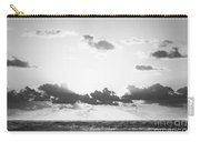 Ocean Sunrise Black And White Carry-all Pouch